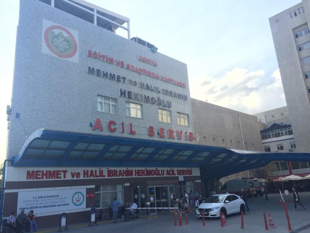 Konya E.A. Hastanesi Acil Servis Bina Önüne Tonoz Yapım İnşaat    3MC Yapı